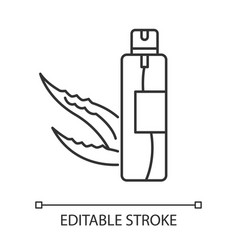 Hair spray pixel perfect linear icon organic vector