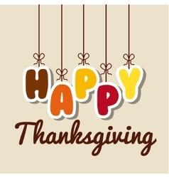 Happy thansksgiving vector