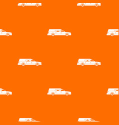 Hearse pattern seamless vector