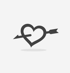 heart pierced with an arrow vector image