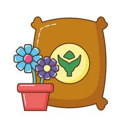 house plant pot isolated icon vector image