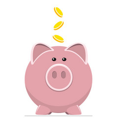 icon pig bank and coins vector image