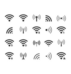 icon wifi wireless signal from radio remote vector image