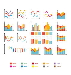 infographic collection rising and falling vector image