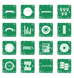 Infographic design parts icons set grunge vector