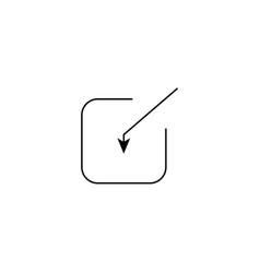 Input icon vector