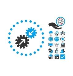 Integration Flat Icon With Bonus vector image