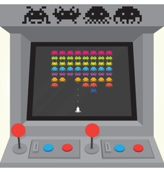 Invaders arcade machine vector