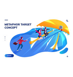 isometric page with target or goal concept vector image
