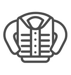 Jacket line icon clothing vector