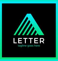 Letter a line logo vector