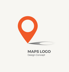location icon map pointer vector image