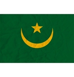 Mauritania paper flag vector image
