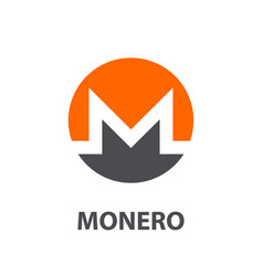 monero symbol vector image