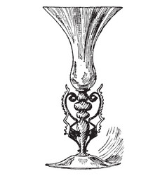Murano glassare are used to renaissance vase vector