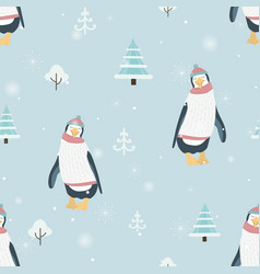 new year christmas winter season seamless pattern vector image