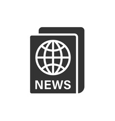 newspaper icon in flat style news on white vector image