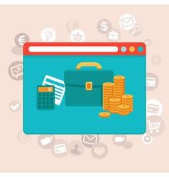 Online app finance vector