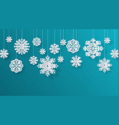 paper cut snowflakes christmas isolated vector image