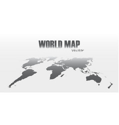 perspective world map on gray background vector image