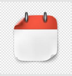 realistic blank calendar icon vector image