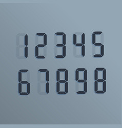 realistic electronic numbers the dial on the vector image
