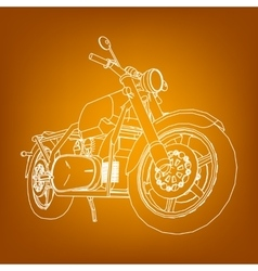 Road bike Motorcycle in the contour lines vector image