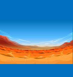 Seamless far west desert landscape for ui game vector