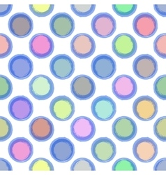 Seamless Ink abstract pattern with colour bubbles vector