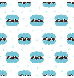 seamless pattern cartoon shell with pearl vector image