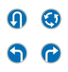 Set of variants a U-Turn forbidden - road sign vector