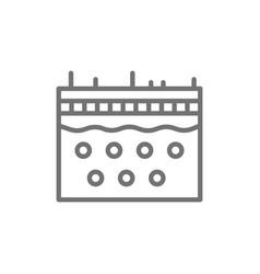 skin epidermis dermatology line icon vector image