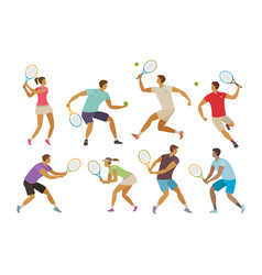 tennis player with tennis racket sport concept vector image