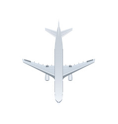 Top view jet airplane isolated icon vector