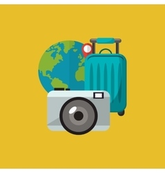Travel vacation or holidays related icons image vector