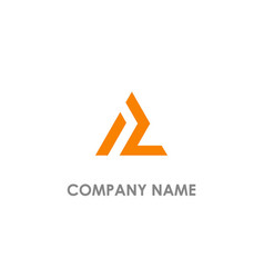 Triangle line l initial logo vector