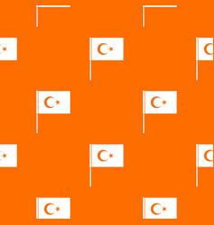 Turkish flag pattern seamless vector