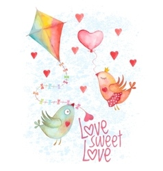 Valentine Day greeting cover vector image