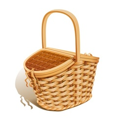 Basket for picnic vector image