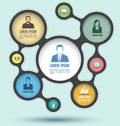 circle business concepts with icons vector image vector image