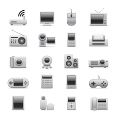 electronic icons vector image vector image