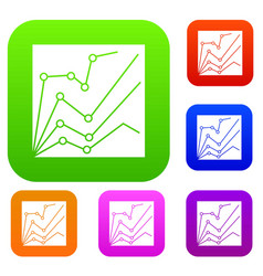 financial statistics set collection vector image