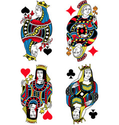 Four queens french inspiration without cards vector