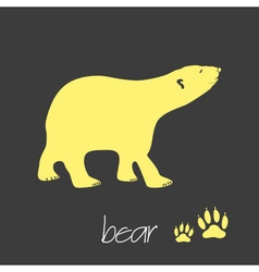 polar bear animal symbol simple banner eps10 vector image