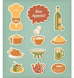 Restaurant menu icons set vector image vector image