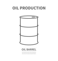 a barrel of oil vector image