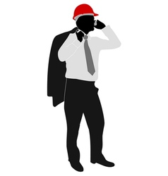 businessman with hardhat vector image