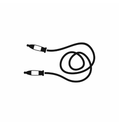 Skipping rope icon simple style vector