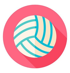 Volleyball Circle Icon vector image