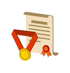 awards symbol flat isometric icon or logo 3d vector image